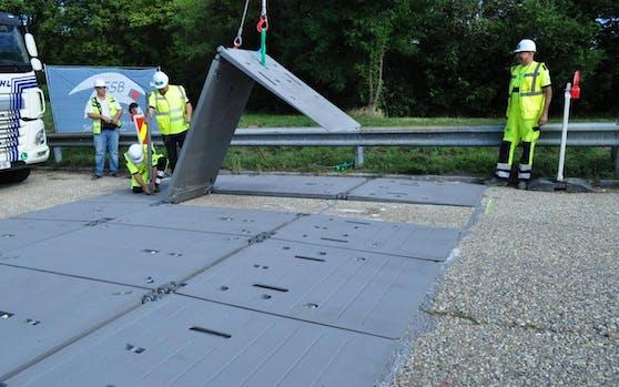 Dank des Mini-Fly-Over kann tagsüber der Verkehr auf der Praterbrücke trotz Baustelle fließen.