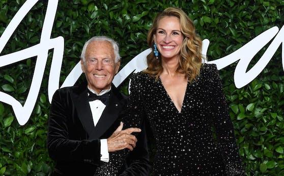 Designer Giorgio Armani (85) und Oscar-Preisträgerin Julia Roberts