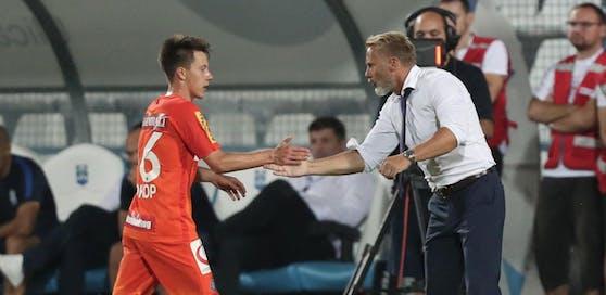 Dominik Prokop und Coach Thorsten Fink