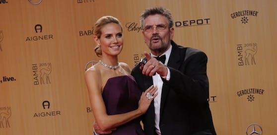 Heidi Klum und ihr Vater Günther bei der Bambi-Verleihung 2015. Da war die Welt noch in Ordnung.