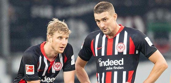 Stefan Ilsanker (r.) schloss sich erst Ende Jänner seinem ÖFB-Teamkollegen Martin Hinteregger bei Eintracht Frankfurt an.