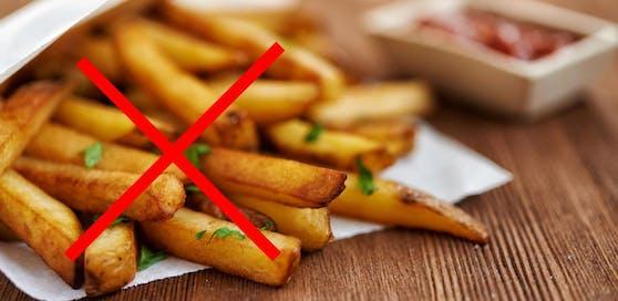 Pommes, mit einem zu hohen Acrylamid-Wert dürfen nicht mehr verkauft werden