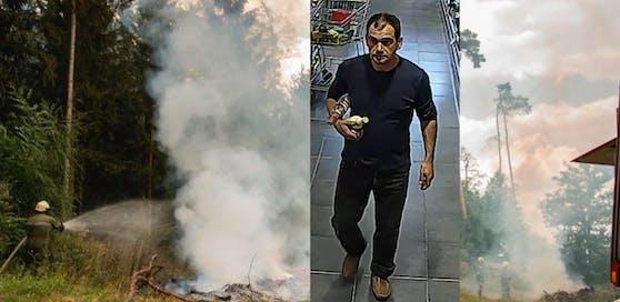 Waldbrand im Bezirk Horn und der Brandstifter, wer kann Hinweise geben?