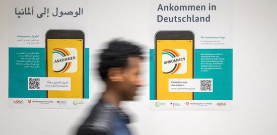 Flüchtlings-Registrierung in Deutschland