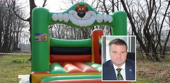 Bürgermeister Wolfgang Kocevar ärgert sich über die Hüpfburgdiebe.
