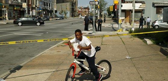 Polizeiabsperrung, Mordschauplatz: Kein seltener Anblick in Baltimore