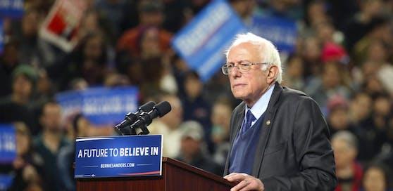 Bernie Sanders bei einem Wahlkampfauftritt in Seattle