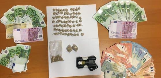 Die Polizei stellte Drogen und Bargeld sicher
