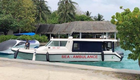 Rettungsboote haben derzeit auf den Malediven Hochbetrieb.
