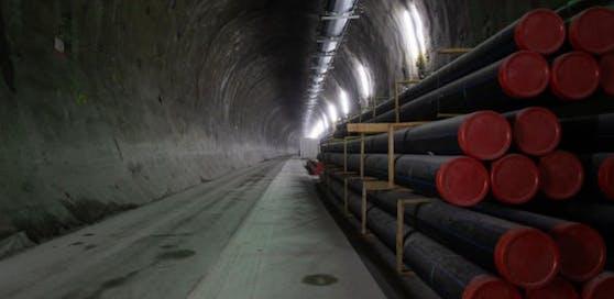 Bauarbeiten im Semmering-Basistunnel laufen.