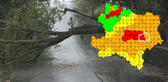 Sturmwarnung für das Waldviertel und den Donauraum von St. Pölten bis Wien.