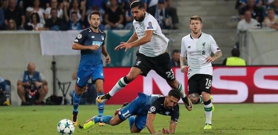Emre Can und der FC Liverpool stehen nach dem 2:0-Hinspielsieg gegen Hoffenheim mit einem Bein in der Gruppenphase der Champions League.