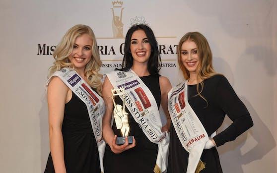 Vize-Miss Magdalena Leitner, Miss Styria 2017 Andrea Jörgler und die Drittplatzierte Sarah Flicker
