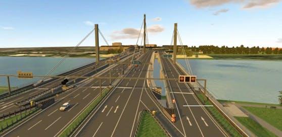 Die Linzer Voestbrücke bekommt zwei Bypässe, wird damit extrem breit.