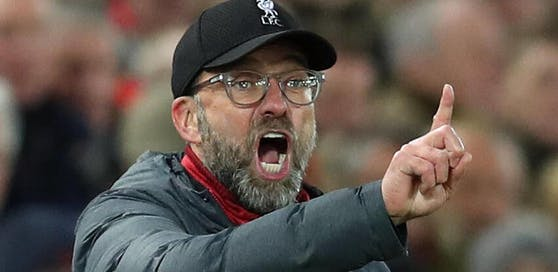 Liverpool-Coach Jürgen Klopp in Rage