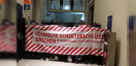 Linke Demonstranten besetzten am Dienstag die Wiener Haupt-Uni - jetzt macht die FPÖ diesen Vorfall zur Parlamentssache
