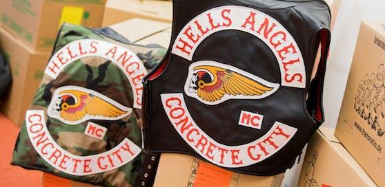"""Symbolbild: Das Logo der Rocker-Bande """"Hells Angels"""". Ableger der ursprünglich in den USA gegründeten Gruppe sind auch in Deutschland aktiv."""