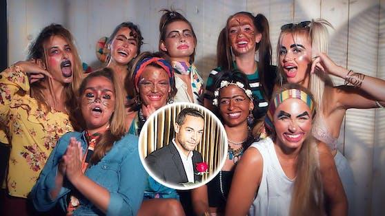 Hübsch gemacht: Nadine, Ernestine, Claudia, Stefanie, Jennifer, Eva, Christina, Vanessa und Jade (v. l.) Welche darfs denn nun sein, Andrej?