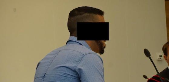 Der angeklagte Mann vor Gericht.