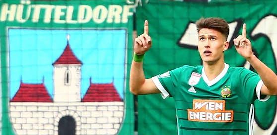 Dejan Ljubicic zeigt's an - für ihn selbst und Rapid soll es immer weiter nach oben gehen.
