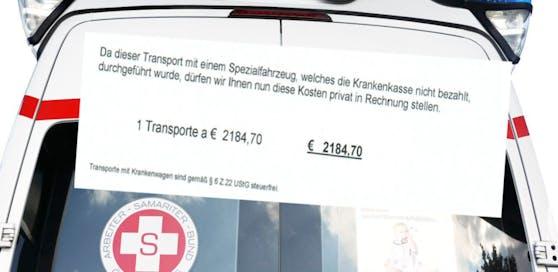 230-Kilo-Mann flatterte Rechnung über 2.184,70 Euro für Krankentransport ins Haus.