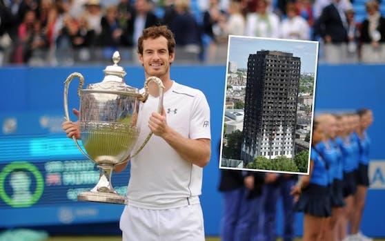 Andy Murray spielt für die Brandopfer von London