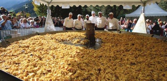309 Kilogramm Kaiserschmarren: Weltrekord