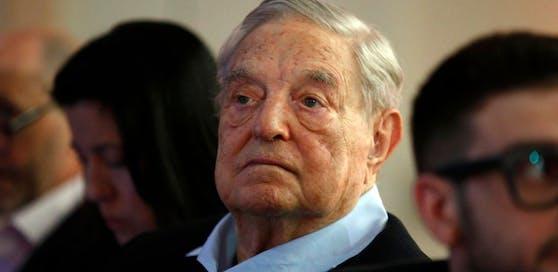 Investment-Milliardär und Philanthrop George Soros beim jährlichen Gipfel des Europäischen Rates für Außenpolitik in Paris.