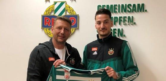 Zoran Barisic mit Neo-Rapid-Stürmer Ercan Kara