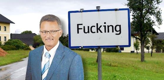 FPÖ-Politiker Wolfgang Pohler verkauft Fucking-Ortstaferl.