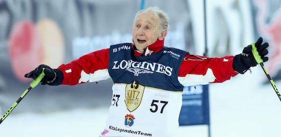 Anderl Molterer ist mit neun Erfolgen der Rekordsieger in Kitzbühel. In den 1960er-Jahren wanderte der heute 88-Jährige in die USA aus.