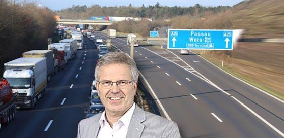 Peter Csar schlägt vor, dass auf der Welser Autobahn die Vignettenpflicht aufgehoben wird.