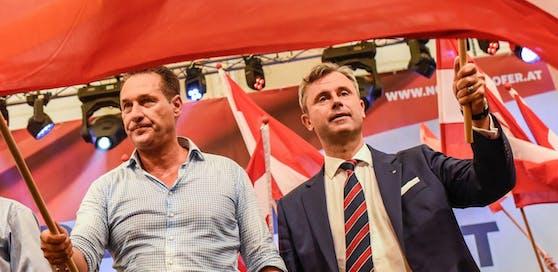 Vizekanzler Heinz-Christian Strache (l.) und Verkehrsminister Norbert Hofert (beide FPÖ)