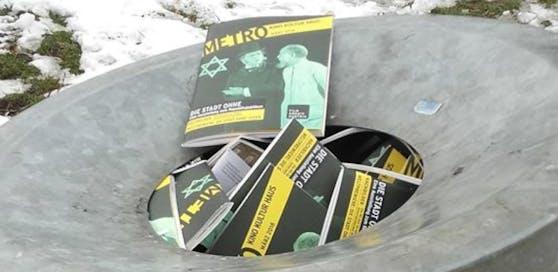 Wie das Filmarchiv auf Facebook schrieb, wurden die Programmhefte gezielt aus sämtlichen Entnahmeboxen genommen und in den Müll geworfen