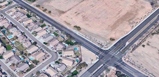 In dieser Wohngegend spielte sich das Drama ab: Die Kreuzung Litchfield Road / Wigwam Boulevard in Litchfield Park, Arizona.
