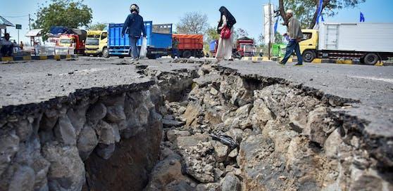 So sah es nach den Erdbeben im Sommer auf der indonesischen Insel Lombok aus.