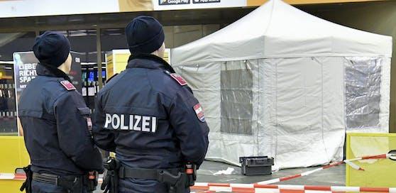Die Polizei sicherte den Tatort am Hauptbahnhof in Wien.