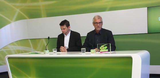 Die Grünen Abgeordneten Steinhauser und Walser (v.li.) wollen die Bildungsreform ermöglichen.
