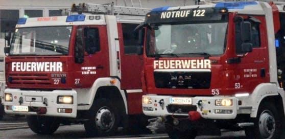 Die Wiener Berufsfeuerwehr war mit mehreren Fahrzeugen im Einsatz