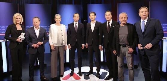 Die Spitzenkandidaten der Nationalratswahl 2017