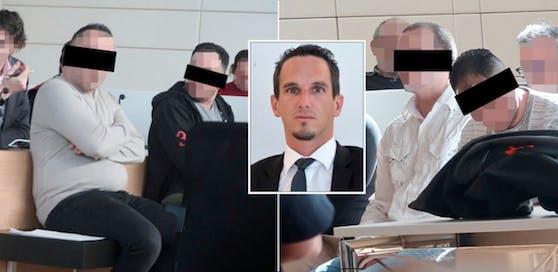 Angeklagte und Anwalt Erich Gemeiner.
