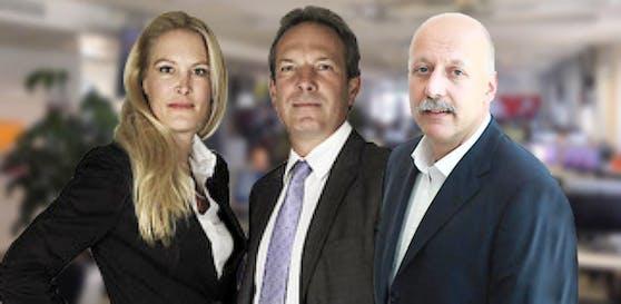 Herausgeberin Dr. Eva Dichand, Geschäftsführer Wolfgang Jansky und Chefredakteur Dr. Christian Nusser.
