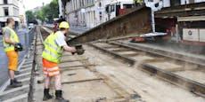 Gürtel- und Bim-Sperren wegen Gleisarbeiten in Ferien