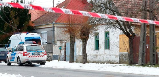 Der Tatort im ungarischen Kaptalanfa, etwa 165 km westlich der Hauptstadt Budapest.
