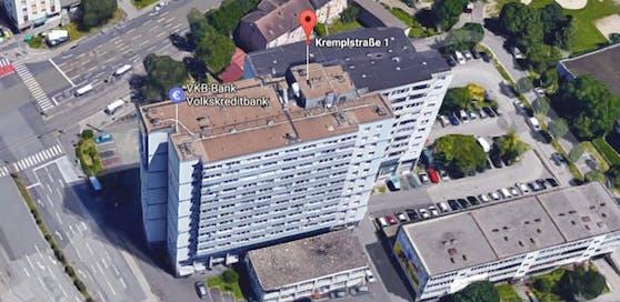 Die Stadt Linz verkauft Anteile von Wohnungen im Krempl-Hochhaus.