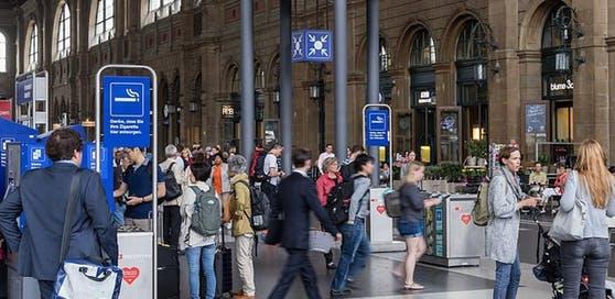 Spanner am Züricher Hauptbahnhof gefasst.