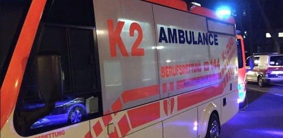 Nächtlicher Rettungseinsatz in Wien. (Symbolfoto)