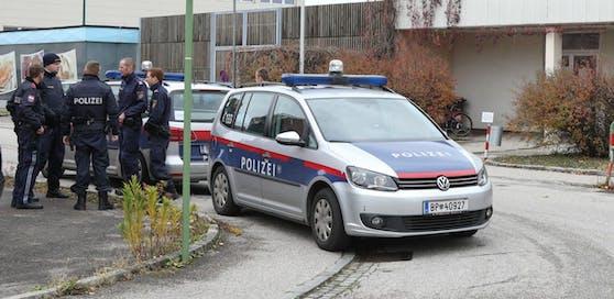Polizeieinsatz in Klagenfurt.