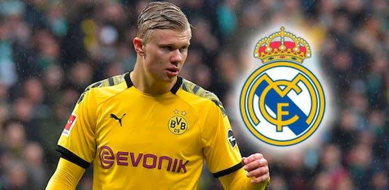 Torjäger Haaland steht bei Real ganz oben auf dem EInkaufszettel.