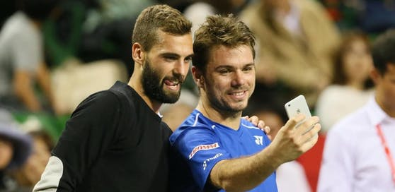 Rivalen auf dem Platz, abseits davon dicke Freunde - die beiden Tennis-Stars Benoit Paire und Stan Wawrinka.